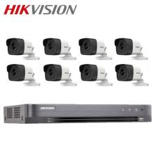 HIKVISION 8-ch Full HD 1080p 2MP Analog Bullet Package