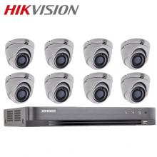 HIKVISION 8-ch Full HD 1080p 2MP Analog Turret Package